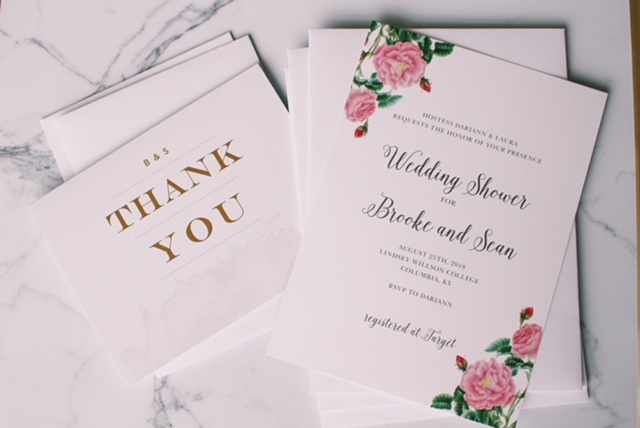 Customizations are so simple at Basic Invite. This lovely wedding shower invite is actually the Budding Blooms Wedding Invitation personalized