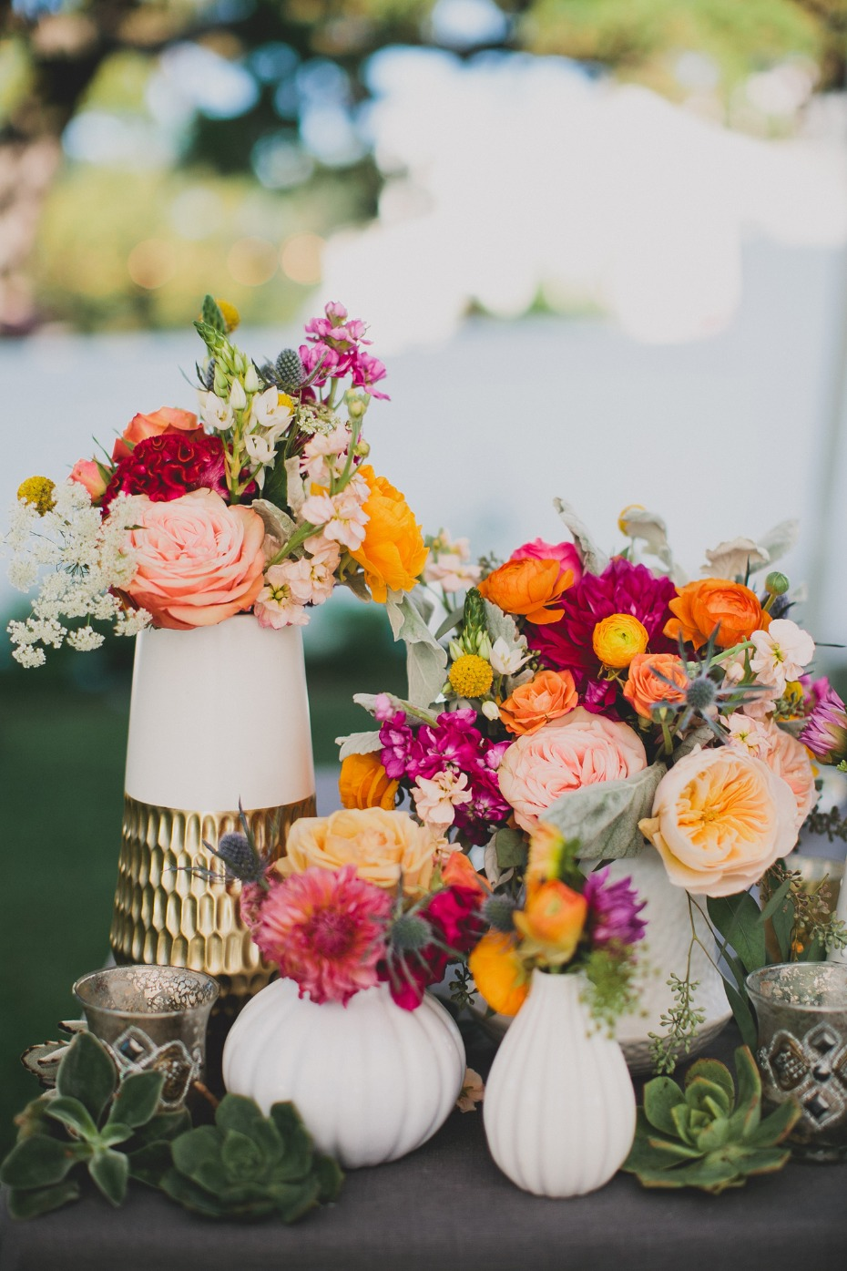 vibrant floral decor for your modern garden wedding