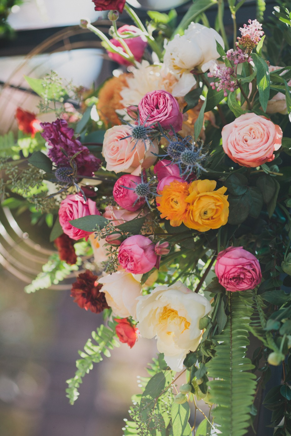 summer time wedding florals