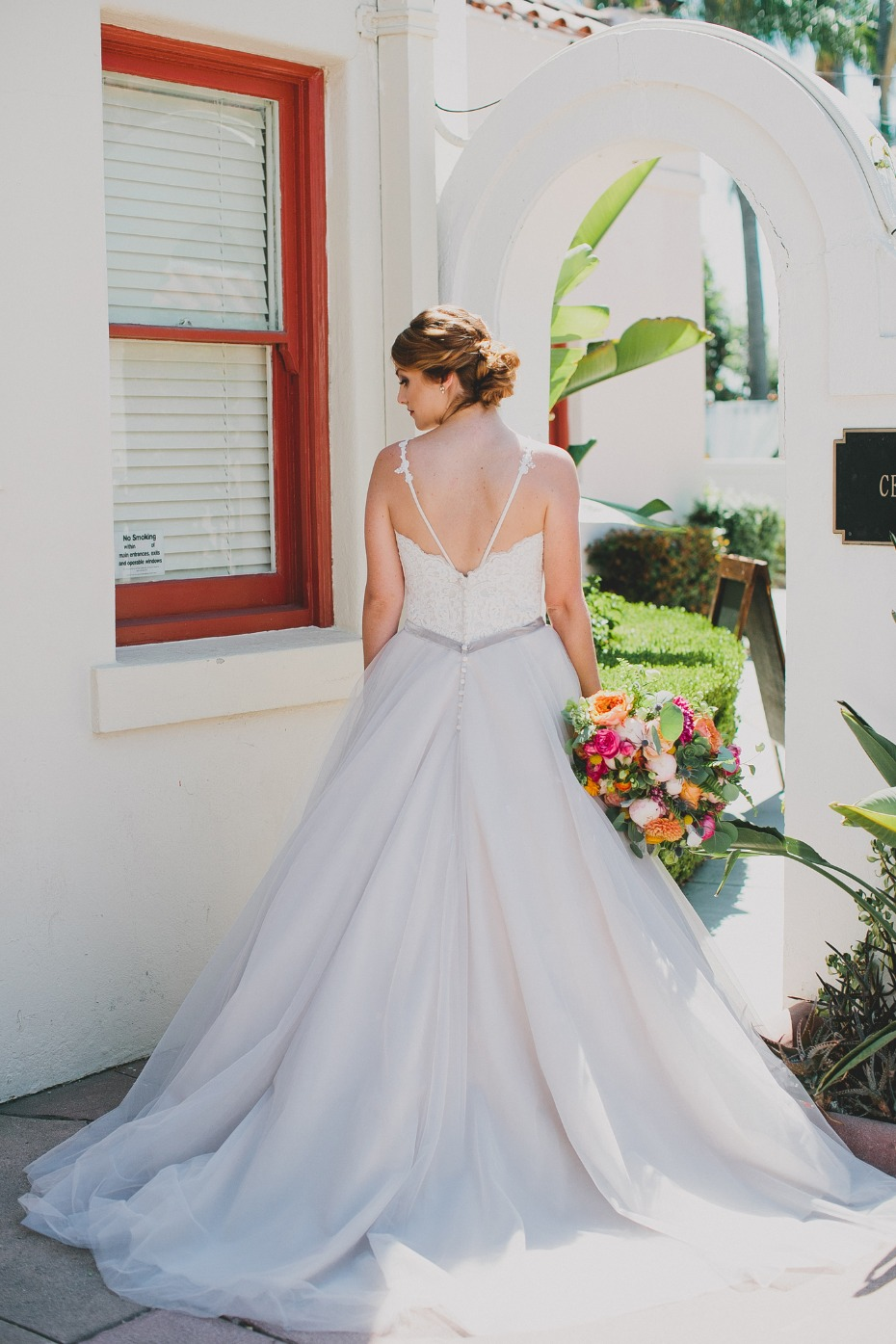wedding dress with unique detailing