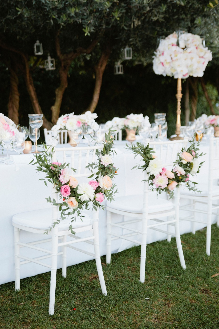 wedding floral seat decor
