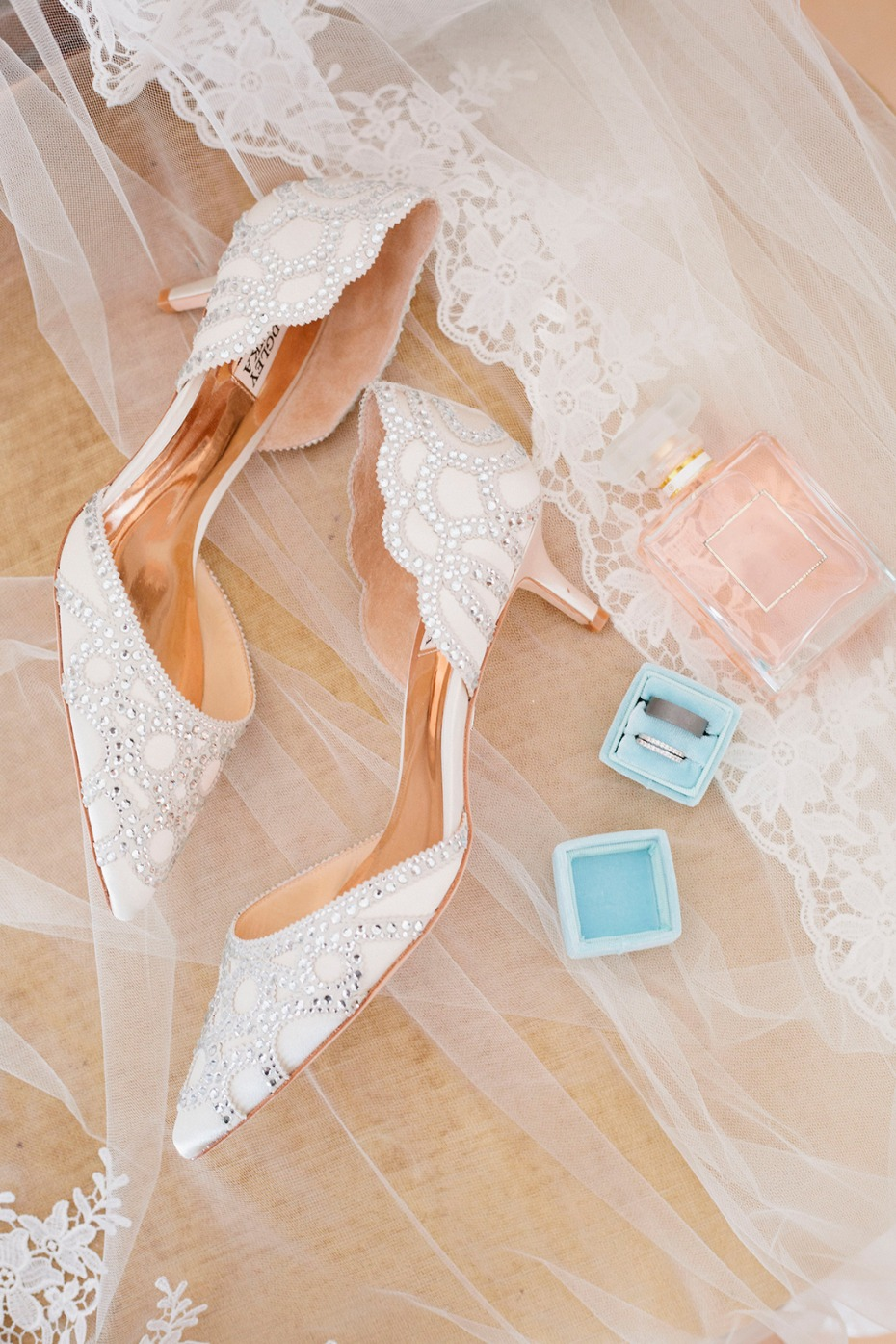 wedding shoes and rings