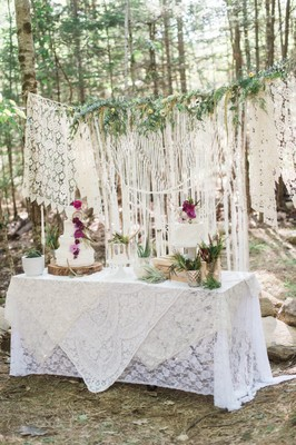 Woodsy Bohemian Summer Wedding Ideas in Maine