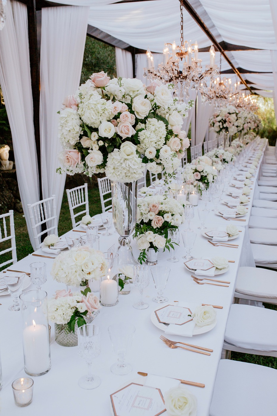 modern glam chic wedding table