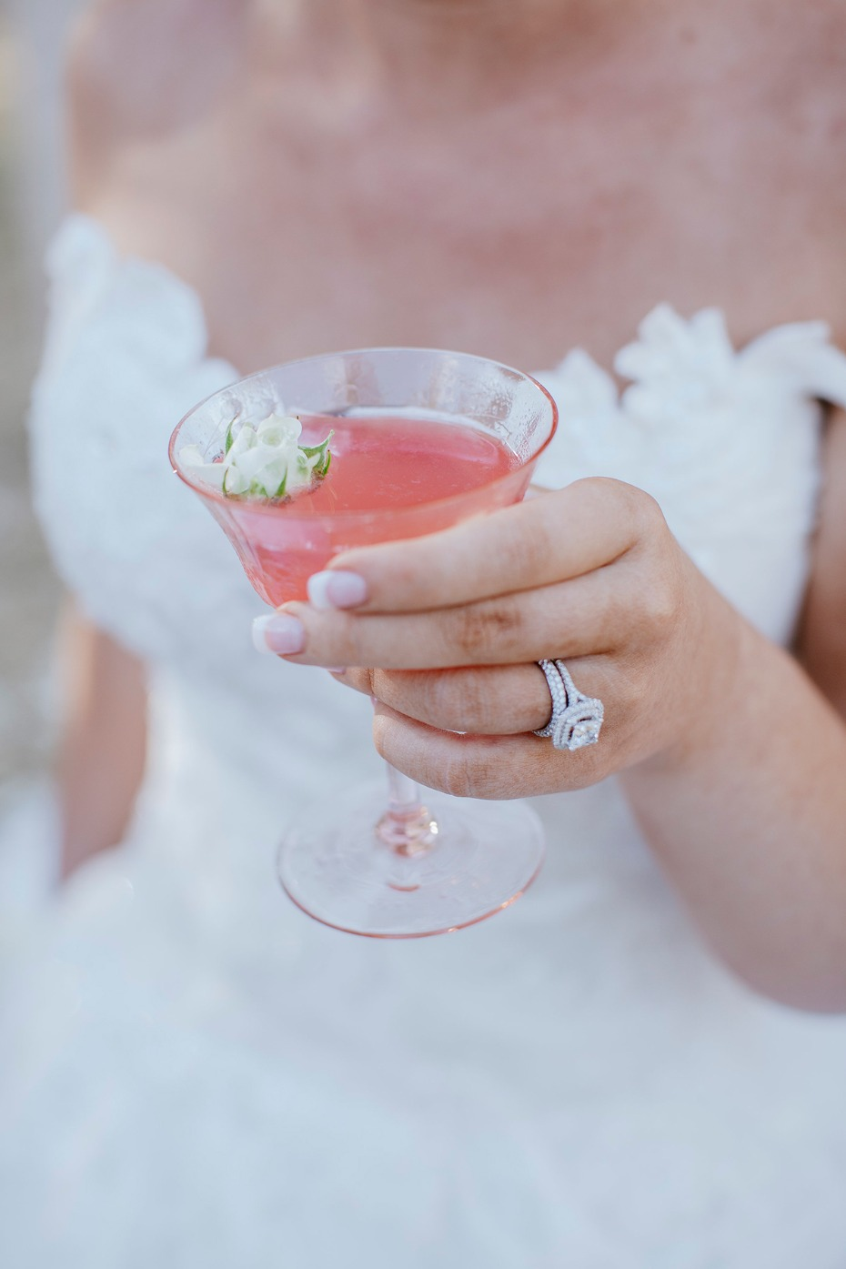 pink wedding cocktail