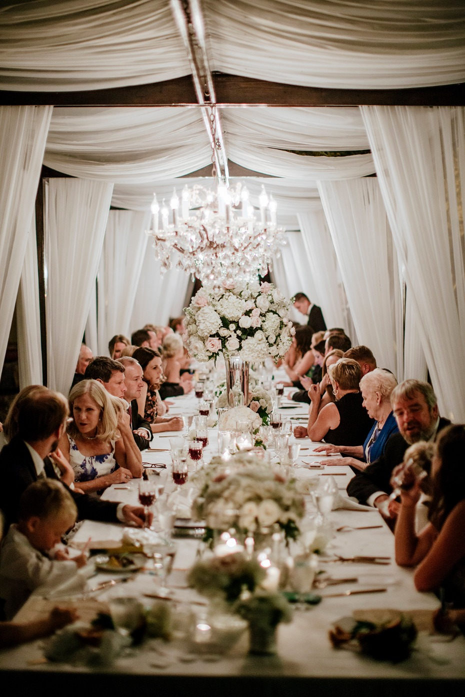 formal family style dining