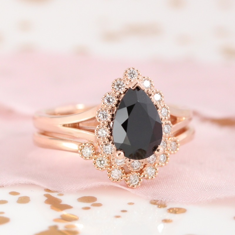 Our Vintage Luna Halo engagement rings are so unique, your ring is sure to stand out. Shop Vintage Luna Halo, as well as our new curved