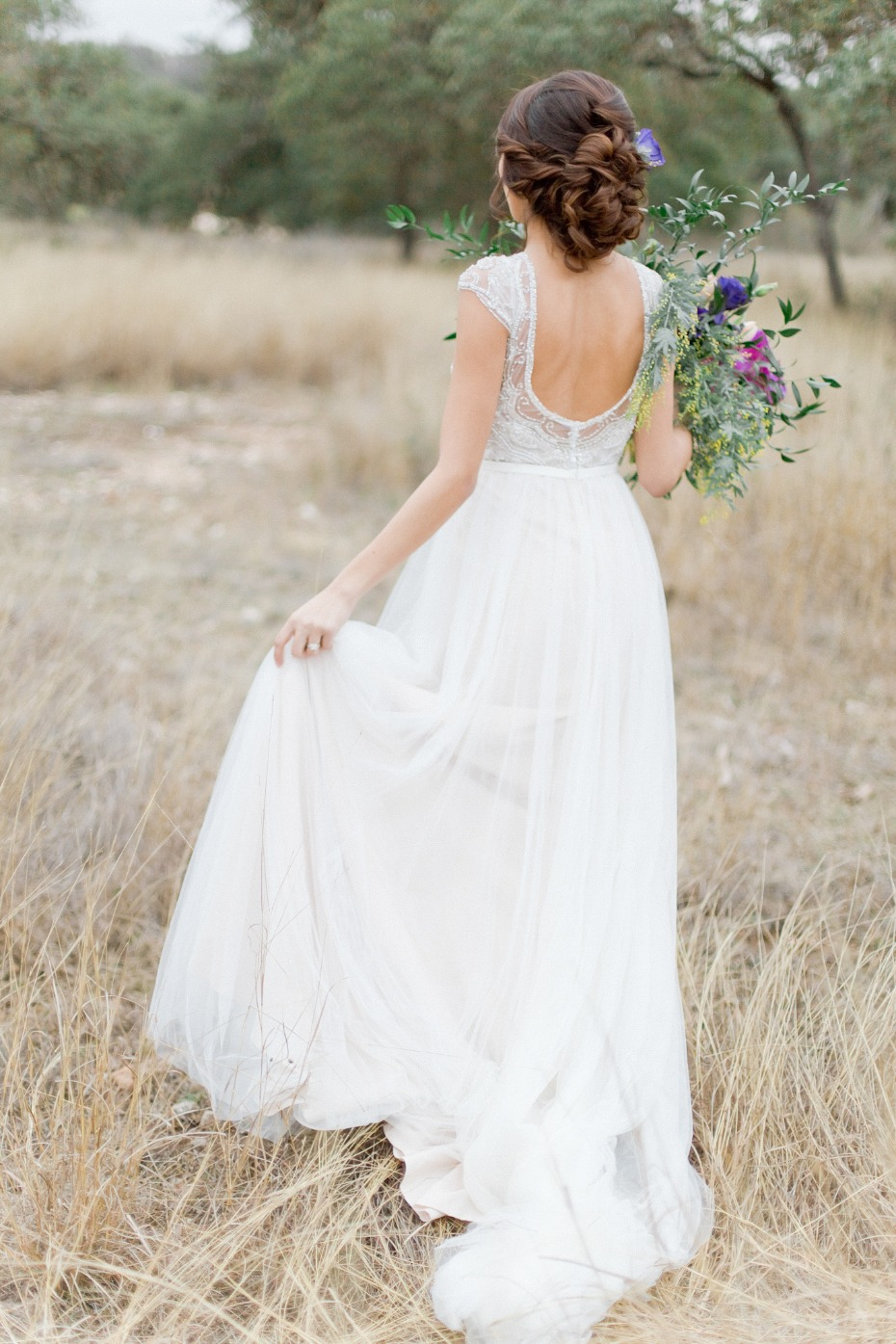 Low back Stella York gown