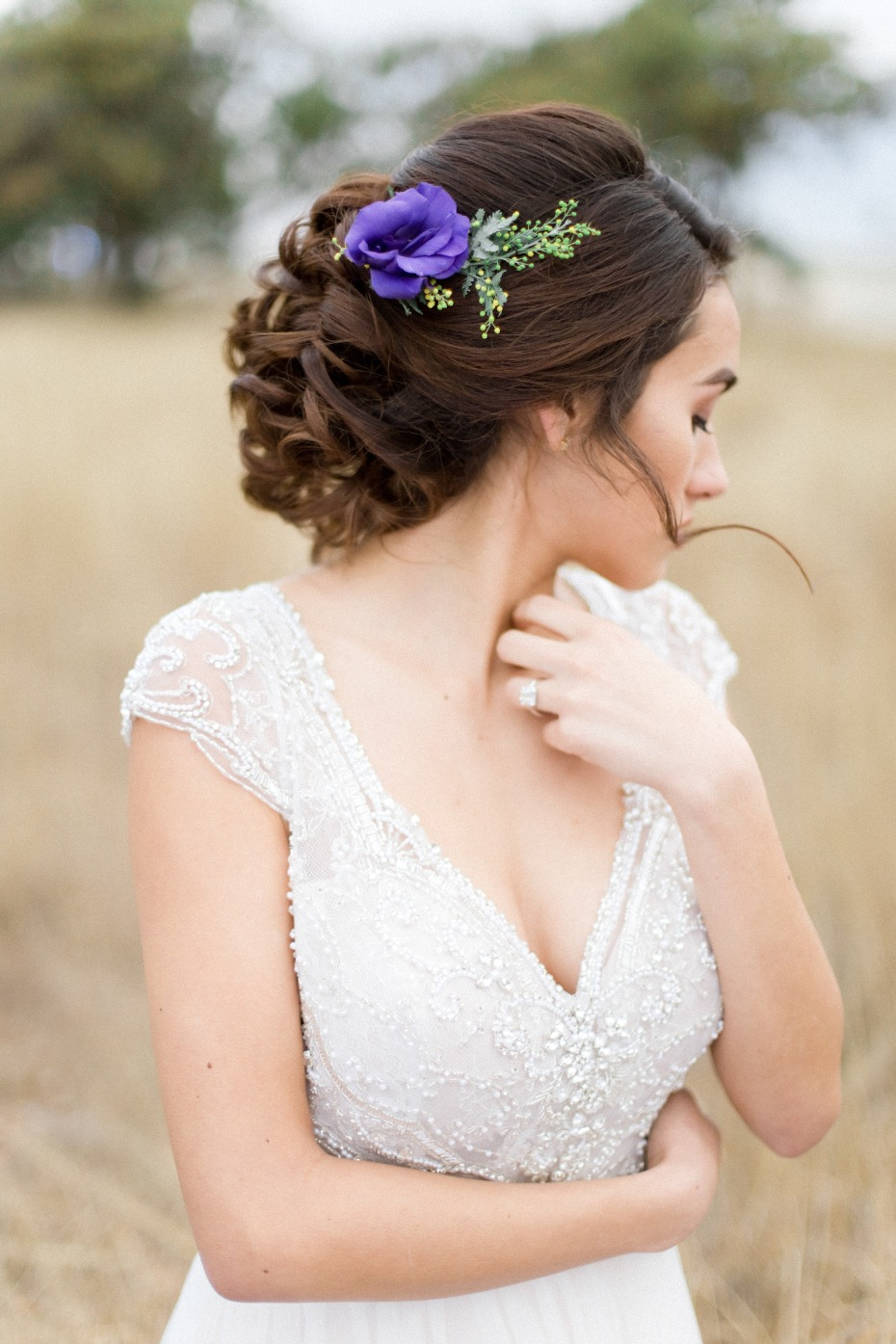 Beautiful hair with floral accessory