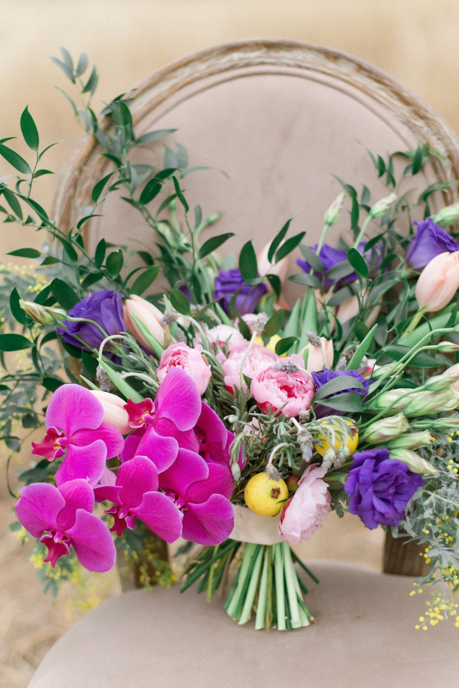 Purple and magenta bouquet