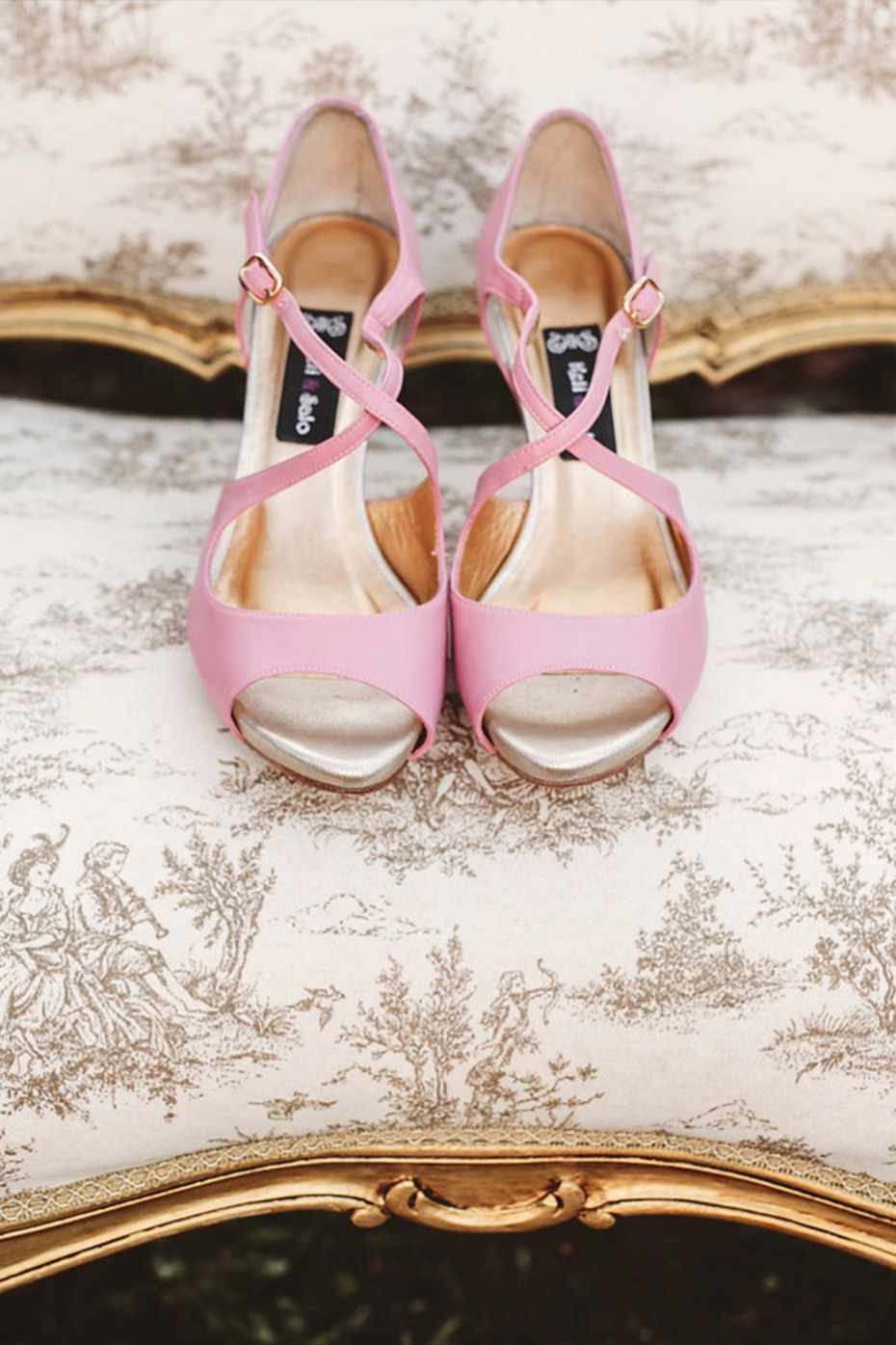 Pink heels for the bride to be