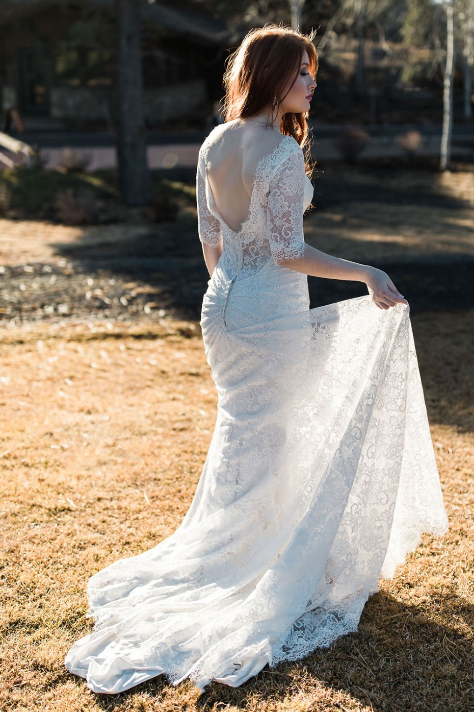 lace Maggie Sottero wedding gown