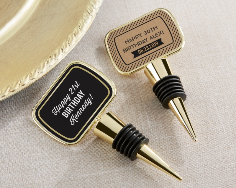 If you're looking for a great party favor to celebrate with after your boozie birthday party, look no further than these Personalized