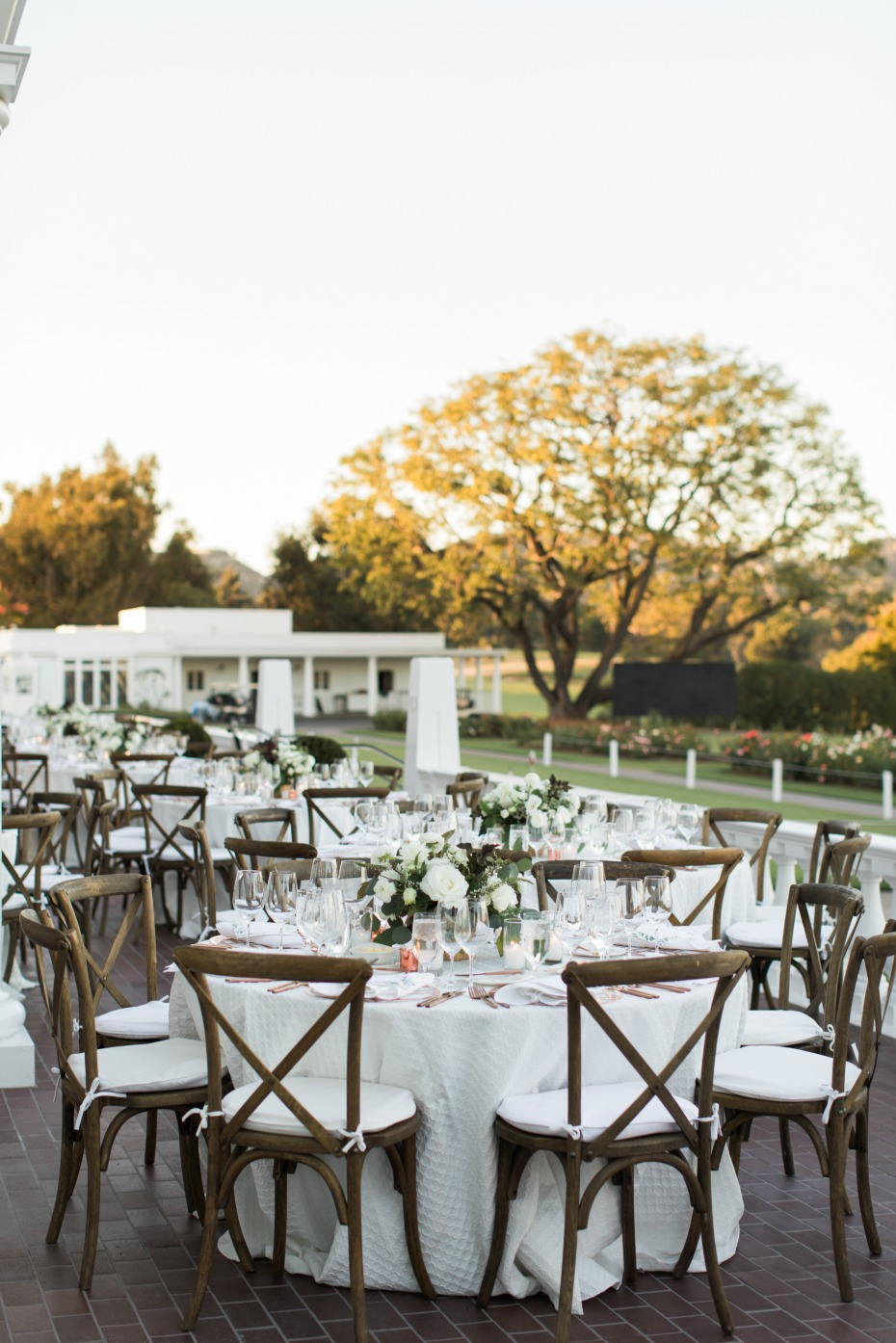 Beautiful white outdoor reception