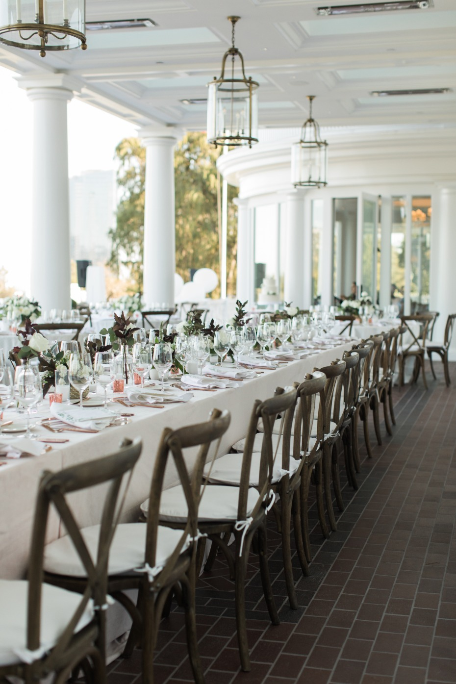 Beautiful outdoor reception space at Los Angeles Country Club