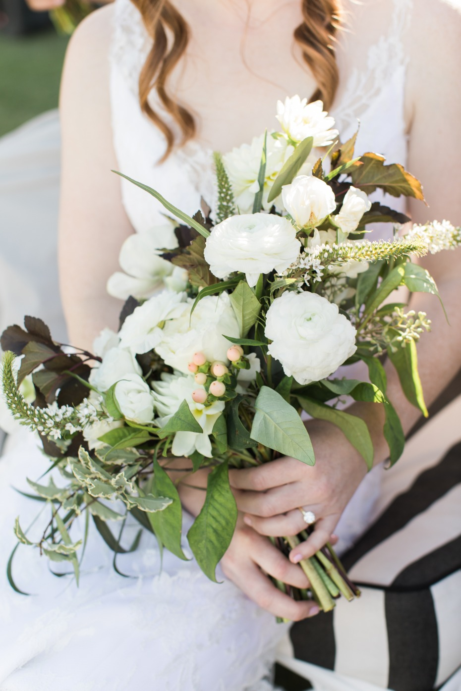 White and green bouquet from Stella Bloom Designs in LA