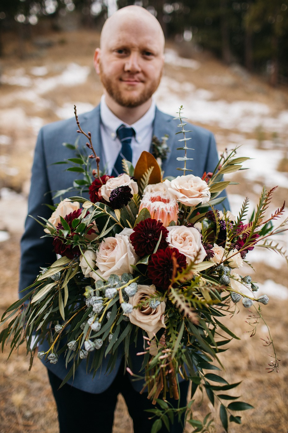late fall wedding bouquet