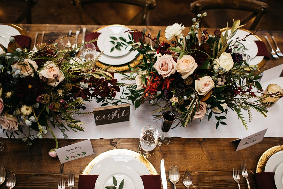 rustic chic late fall wedding day