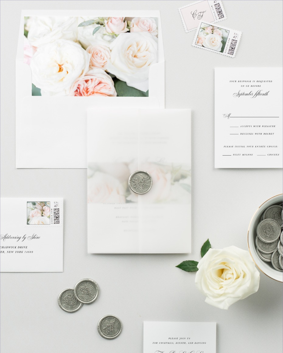 Introducing the Camille Invitation Suite from Shine Wedding