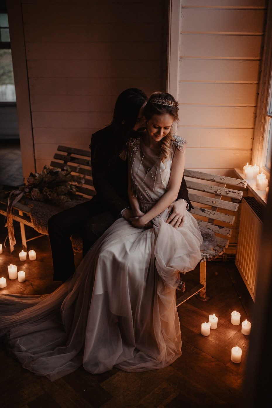 Romantic candle lit shoot