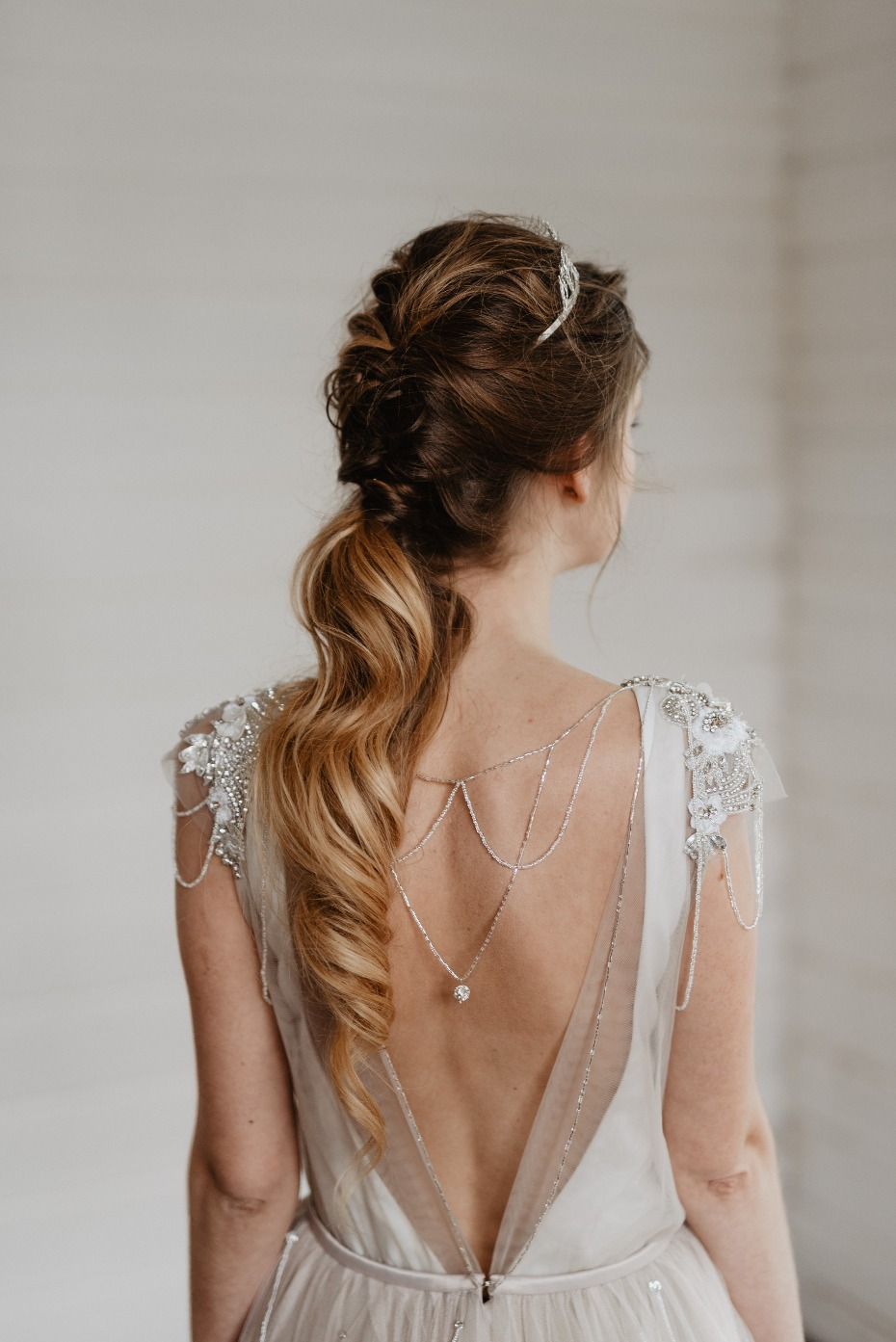 Wedding hair #goals and dress detail