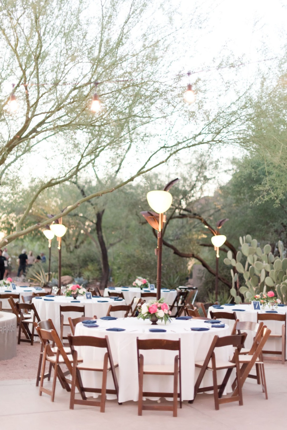simple and elegant desert wedding reception