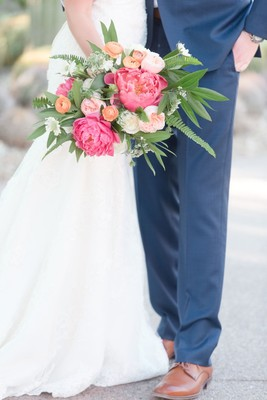 Pink And Gold Desert Wedding At The Desert Botanical Garden