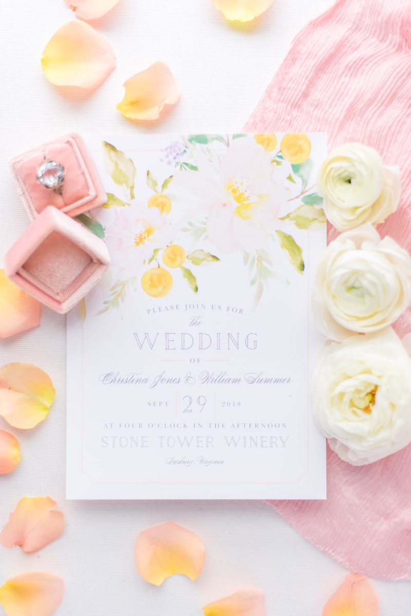 Pink and yellow wedding invitations are perfect for your upcoming spring wedding day! Choose your favorite shades from 180 custom colors