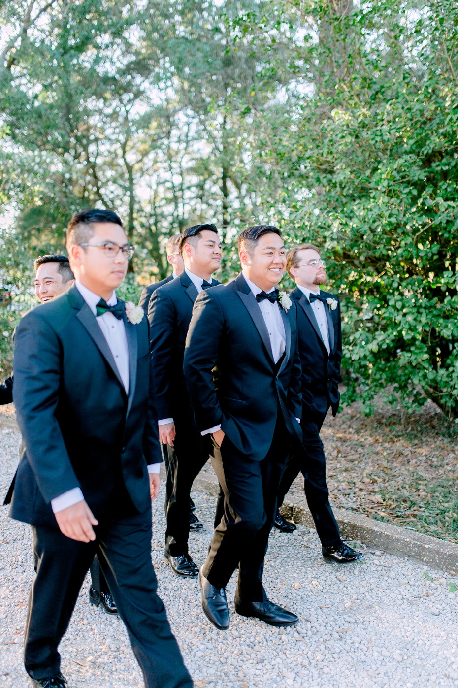 formal wedding style for the groom and his men
