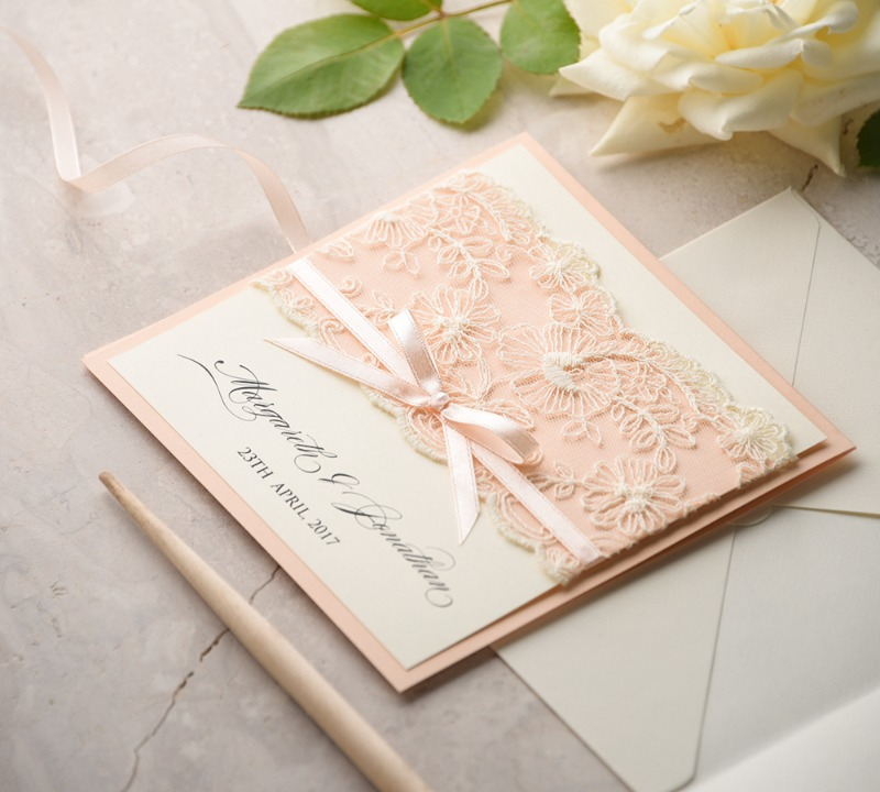 Wedding invitations with #lace