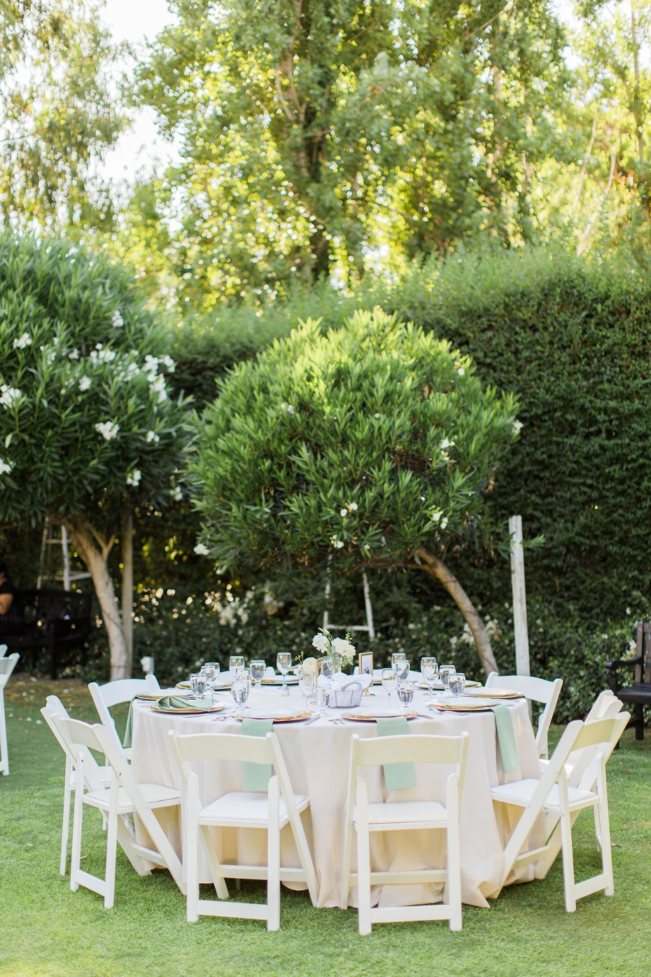 garden party wedding reception