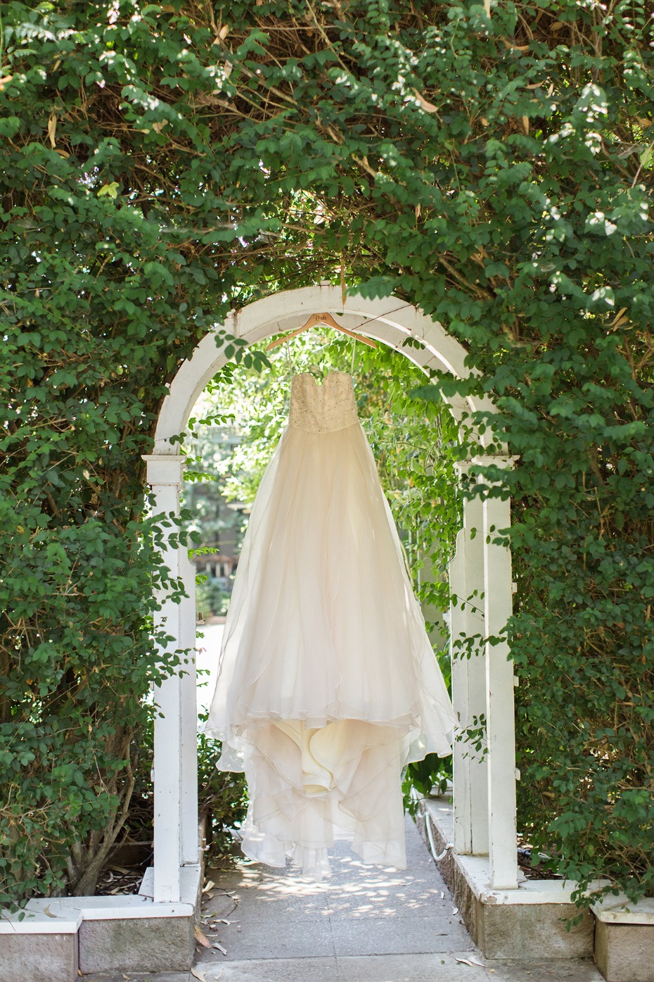 wedding dress from Jim Hjelm