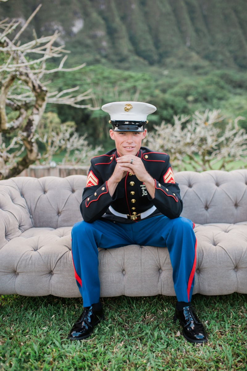 Nothing better than a man in Uniform on his wedding day!