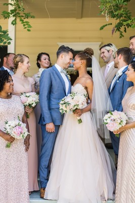 This Outdoor Pink And Gold Garden Wedding Feels Like Spring