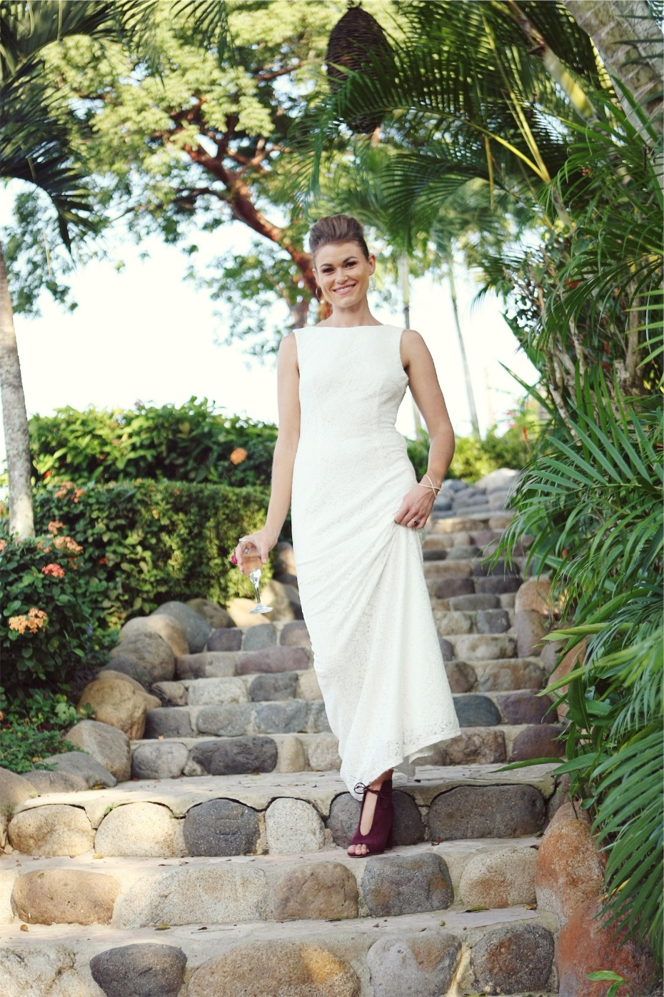 classic and modern wedding dress