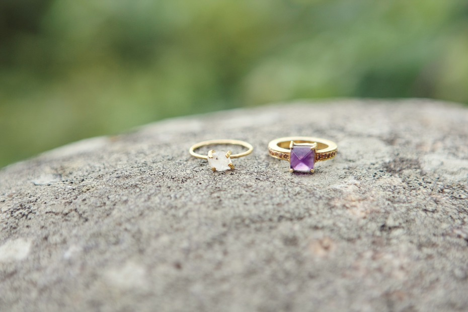 raw gem wedding rings