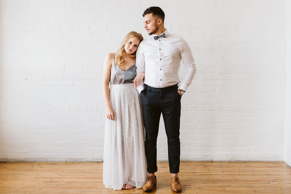Modern chic engagement shoot