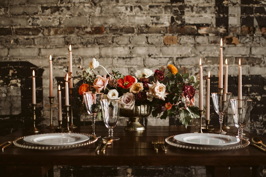 Urban chic table decor
