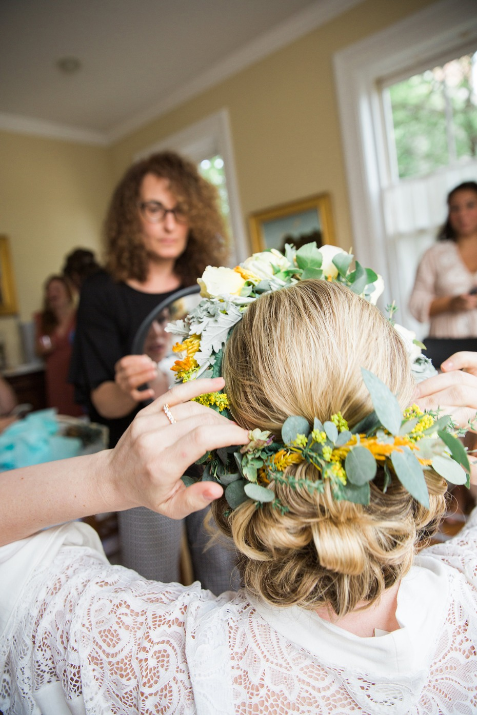 floral crown for the bride