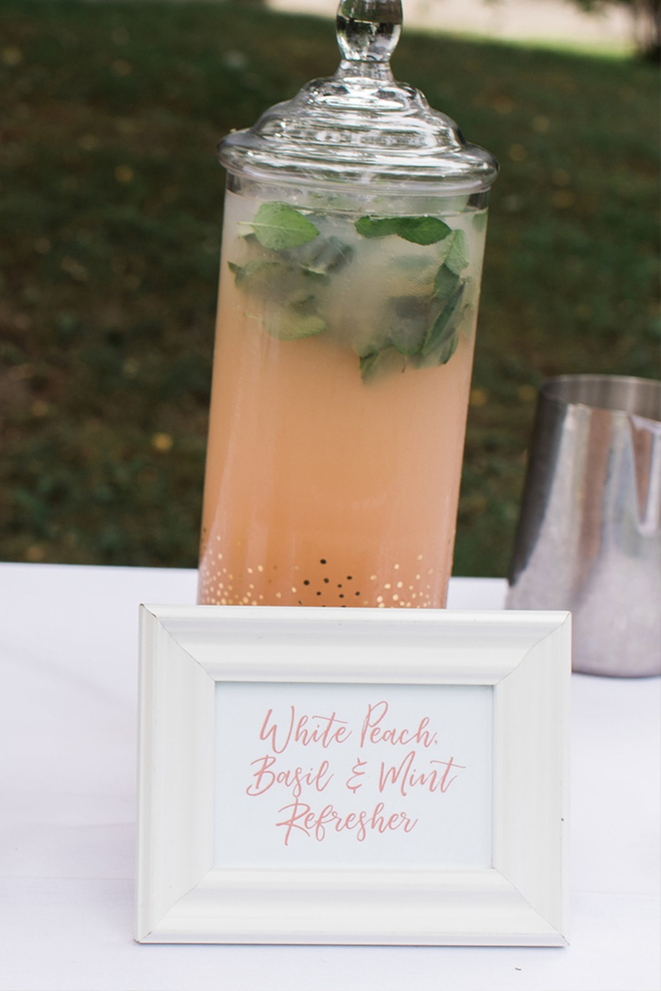 white peach sangria wedding drink