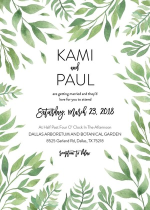 Free Leaf Wedding Invitation