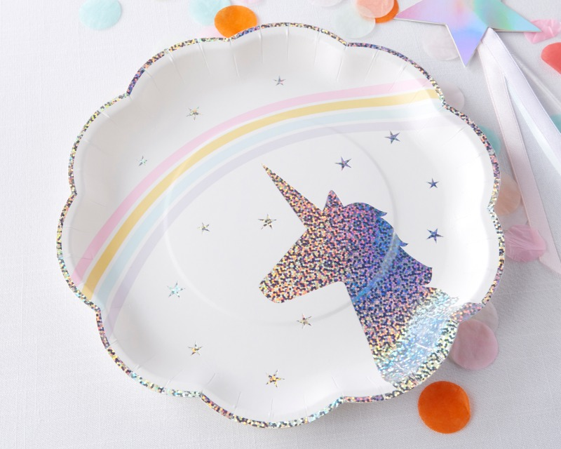 When decorating your enchanted bridal shower or birthday party, don't forget the table décor. Kate Aspen's Enchanted Unicorn Paper