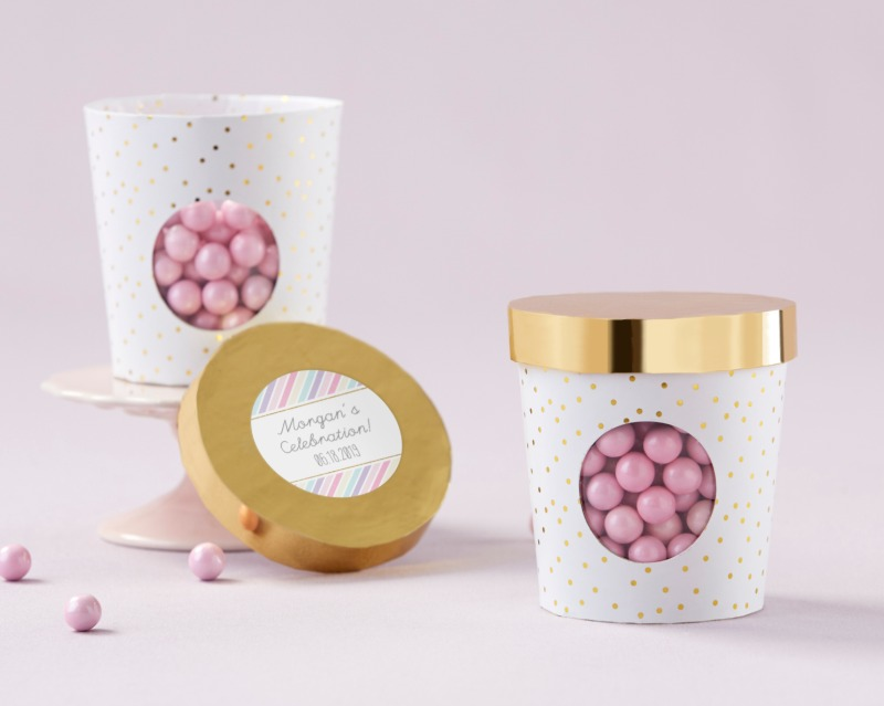 For any bridal shower or birthday celebration, no guest will be able to resist the adorable sweetness of these Ice Cream Favor Boxes