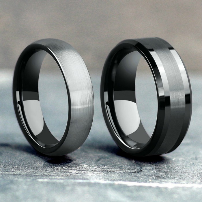 Men's tungsten wedding rings. Durable and comfortable.