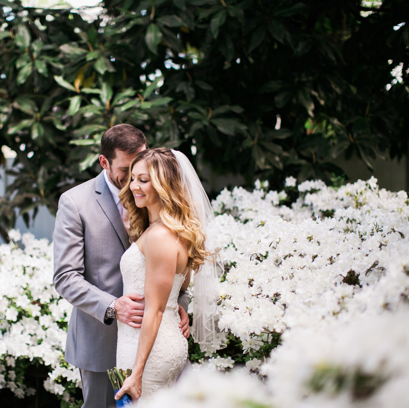 Planning a Spring Wedding? We love our garden in full springtime bloom - isn't this shot from Jen & Chris Creed, Photographers