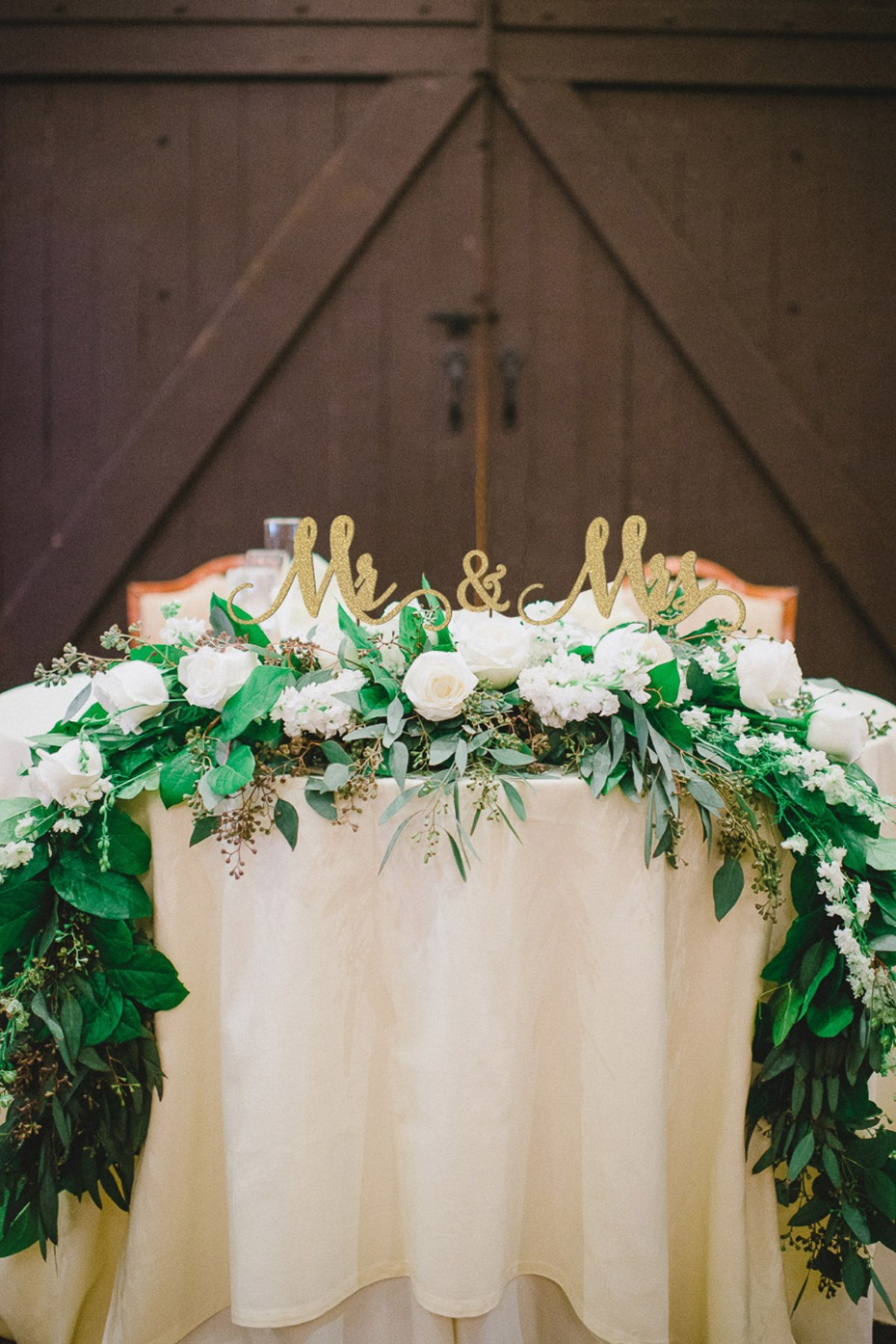 Custom table signs from Thistle and Lace