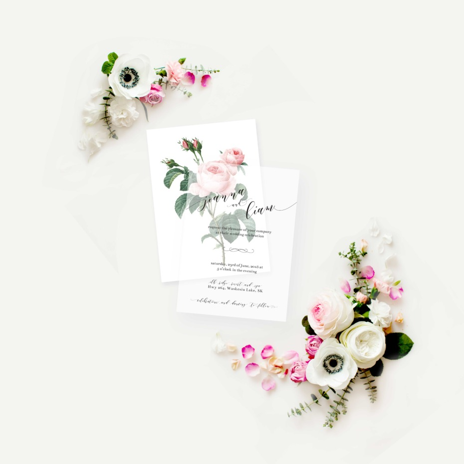Custom invitation from Thistle and Lace
