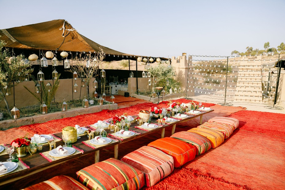 rehearsal dinner in beautiful Moroccan style