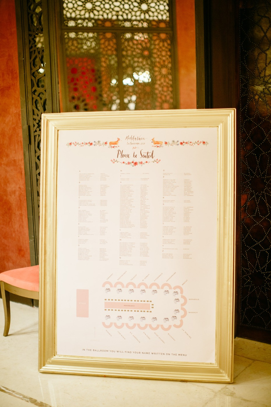 please be seated wedding seating assignment display