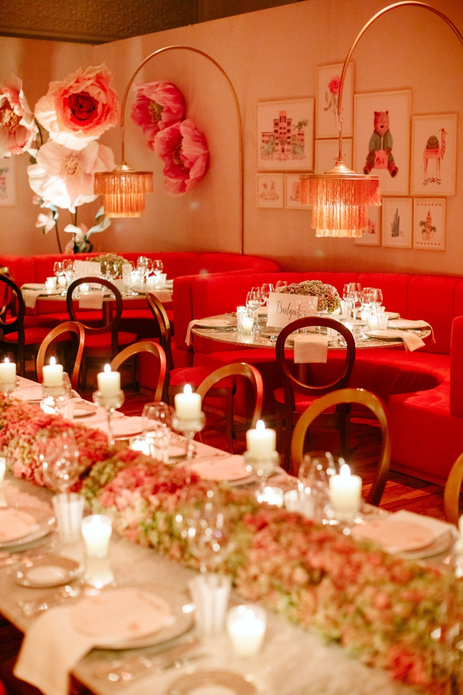 elegant and over the top wedding reception decor